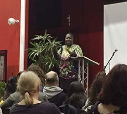 Mary Daniels Presenting Her Talk